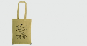 Sac en coton bio Rock is not Head - Jovens...