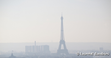 Le smog lié à la pollution à Paris