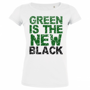 T-shirten coton bio Green is the new black -...