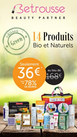 beaut betrousse lance une box de 14 produits bio et naturels bioaddict. Black Bedroom Furniture Sets. Home Design Ideas
