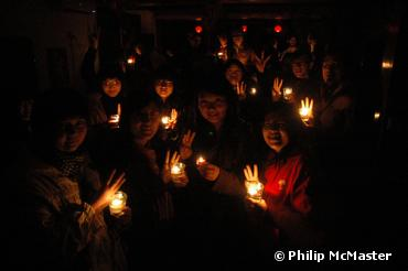 Earth HOUR 2010 , Beijing at the Hutong School
