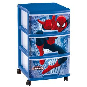 tour tiroirs 3x20l spiderman bioaddict. Black Bedroom Furniture Sets. Home Design Ideas